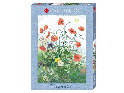 FLORALS, RED POPPIES 1000pc