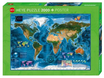 MAP ART, SATELLITE MAP 2000pc