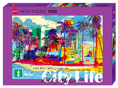 CITY LIFE I LOVE MIAMI 1000pc
