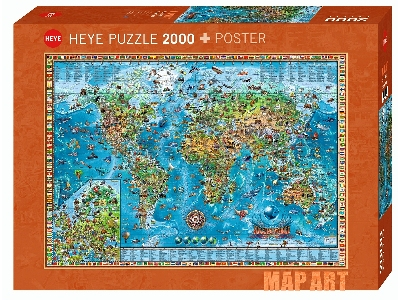 MAP ART, AMAZING WORLD 2000pc