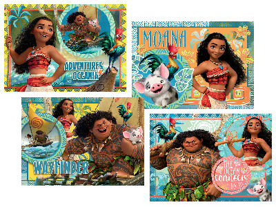 DISNEY MOANA TRAY PUZ AST 35pc