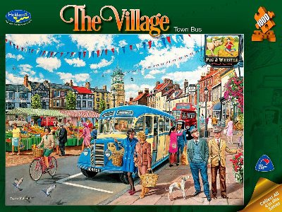 THE VILLAGE, TOWN BUS 1000pc