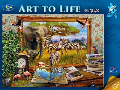 ART TO LIFE, ZEBRA WATERHOLE