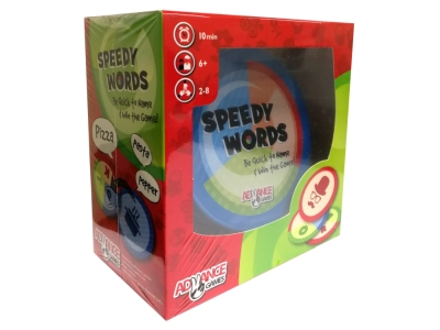 SPEEDY WORDS CARD GAME IN TIN