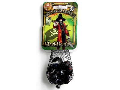 MARBLES,Bag of 20+1,BLACKBEARD