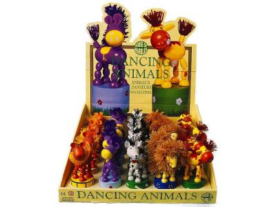 DANCING ANIMALS WOODEN x 25