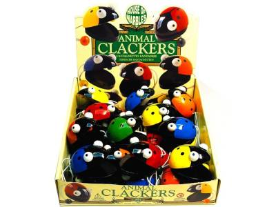 ANIMAL CLACKERS WOODEN x 25
