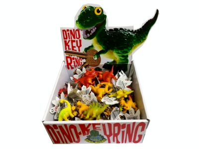 DINO KEYRINGS Display of 60