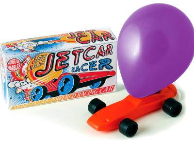 BALLOON JETCAR RACER (Boxed)