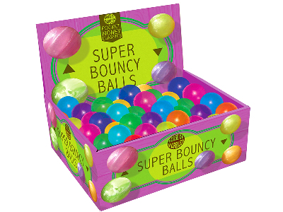 SUPER BOUNCY BALLS Disp.of 72