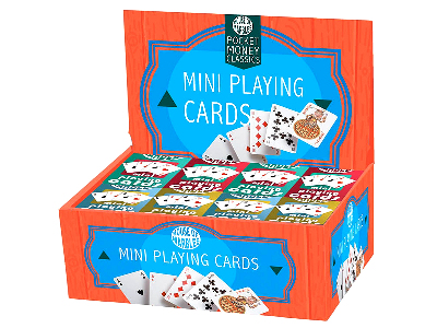 MINI PLAYING CARDS Displ.of 80