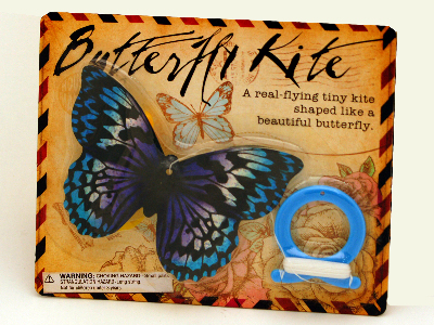 MINI BUTTERFLY KITES Disp.of24