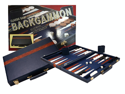 BACKGAMMON, BLUE VINYL 15""