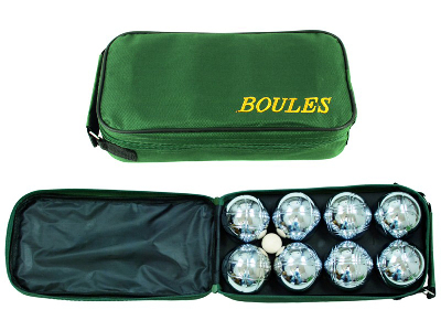 BOULES, CHROME SET OF 8