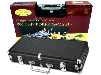 POKER 300pc 11.5gm BLACK ALUM.