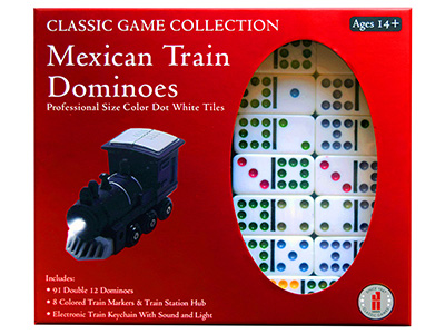 DOMINOES,D-12,+ MEXICAN TRAIN