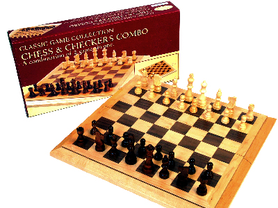 "CHESS & CHECKERS,16"" BEVEL EDG"