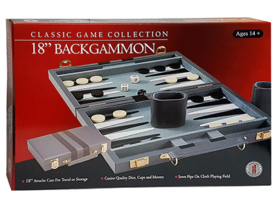 "BACKGAMMON 18"" VINYL,STITCHED"