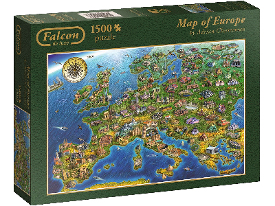 MAP OF EUROPE 1500pc
