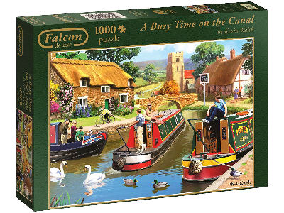 BUSY TIME ON THE CANAL 1000pc