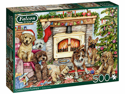 CHRISTMAS PUPPIES 500pc
