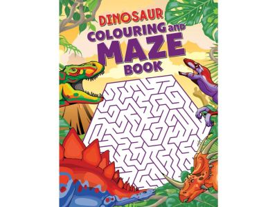 DINOSAUR COLOURING/MAZE BOOK