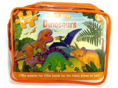 TRAVEL MATES JIGSAW DINOSAURS