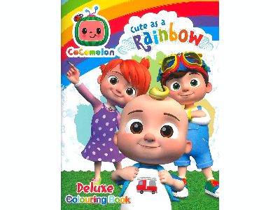 COCOMELON RAINBOW COLOURING BK