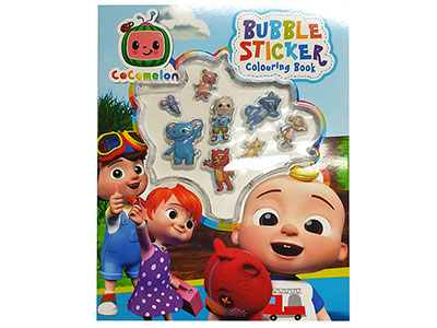 BUBBLE STICKER COLOURING BOOK