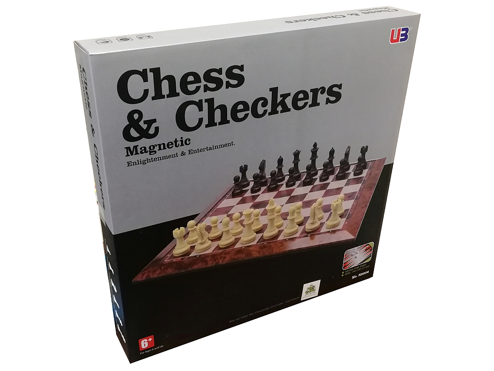 CHESS & CHECKERS MAGNETIC 16""