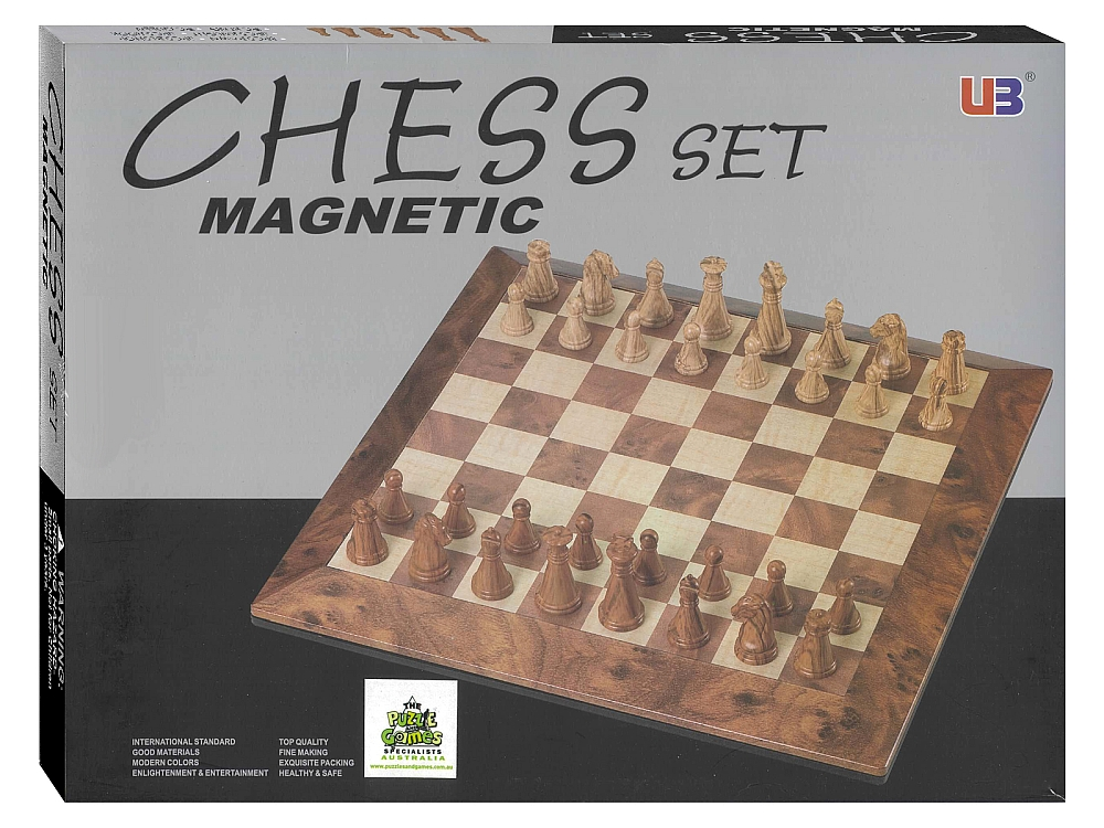 CHESS MAGNETIC 19CM PEACH WOOD