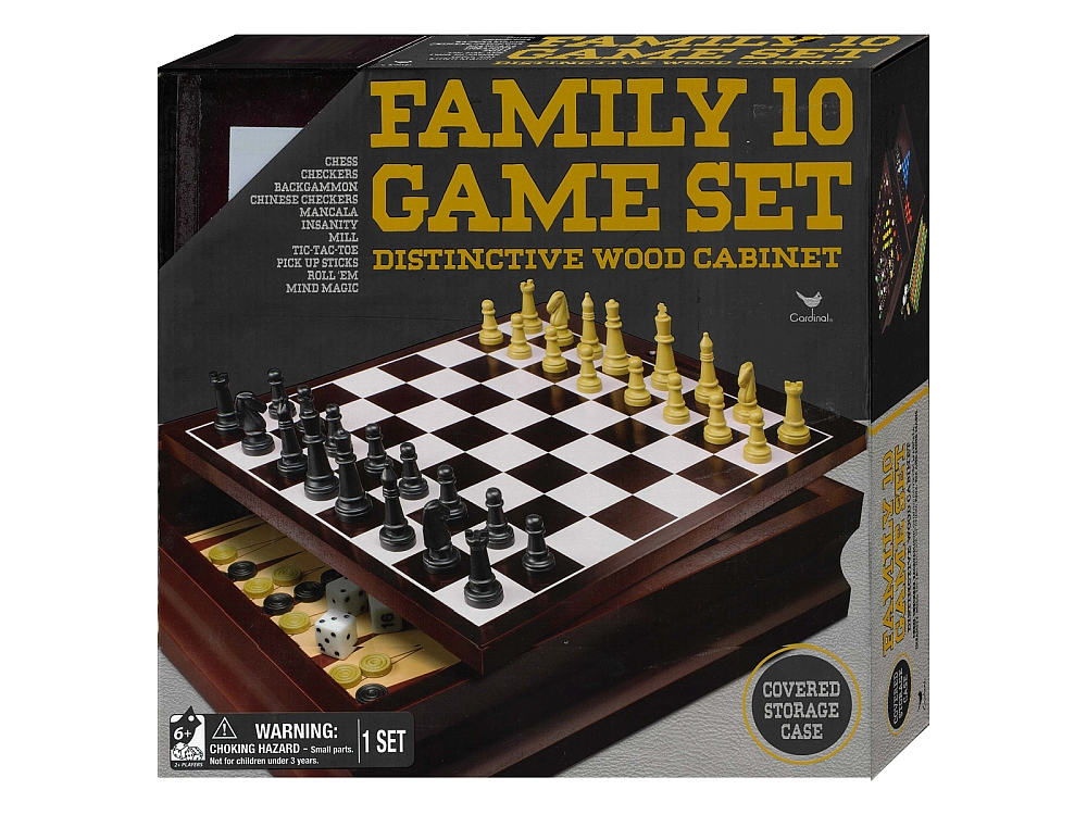 FAMILY 10 GAME SET Cardinal