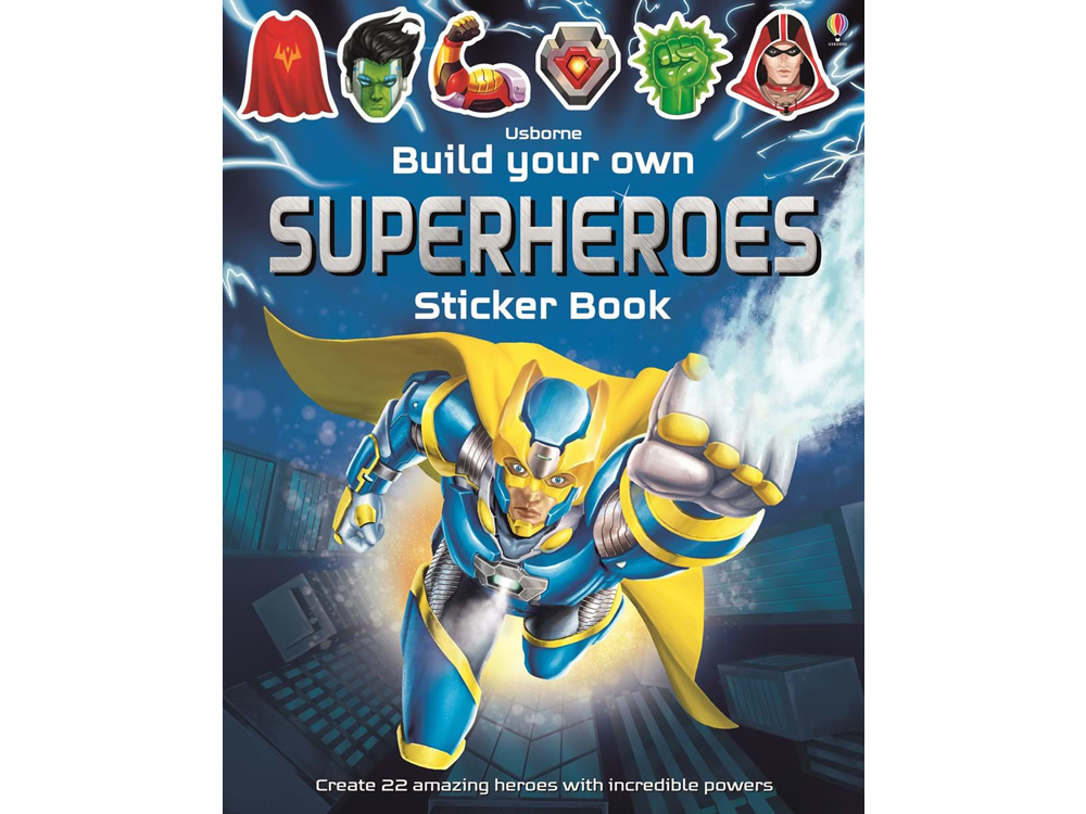 BYO SUPERHEROES STICKER BOOK