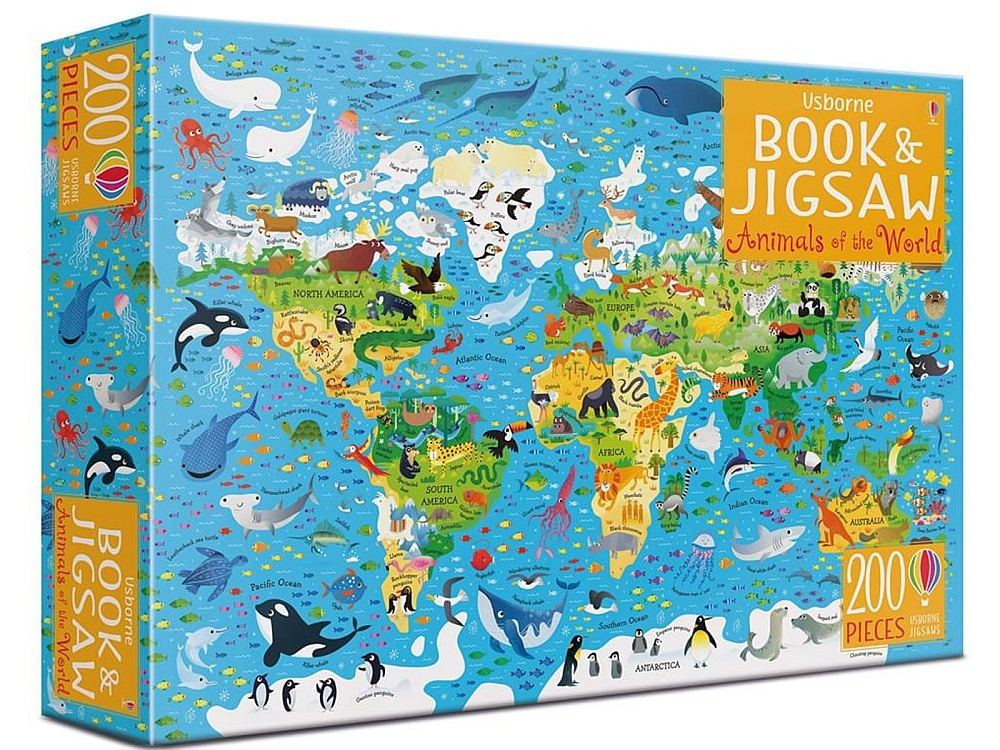 BOOK & JIGSAW ANIMALS OF THE WORLD