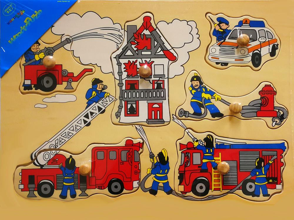 FIRE FIGHTERS WOODEN PUZZLE