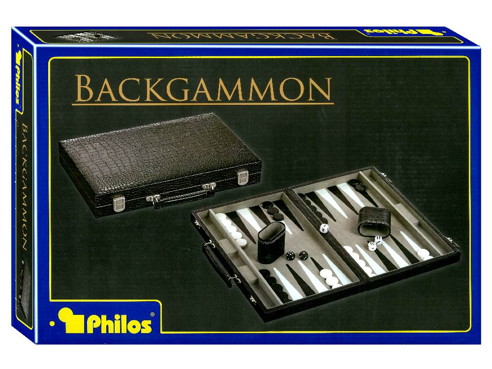 "BACKGAMMON 15"" Black Crocodile"