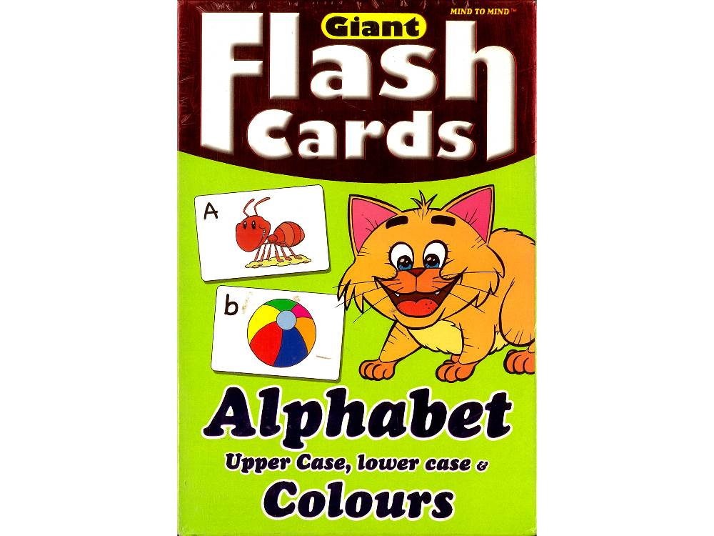 GIANT FLASH CARDS ALPHABET U/C