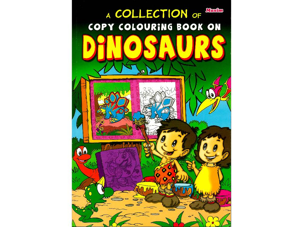 COPY COLOURING BOOK DINOSAURS