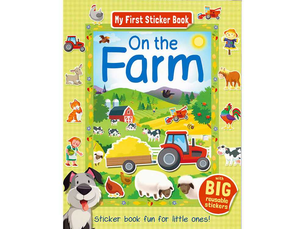 ON THE FARM MY FIRST STICKER B