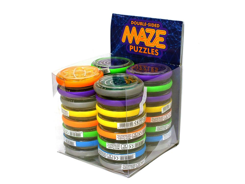 DOUBLE-SIDED MAZE PUZZLES ASST