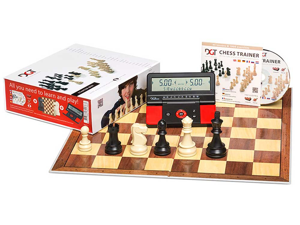 CHESS STARTER BOX RED + CLOCK