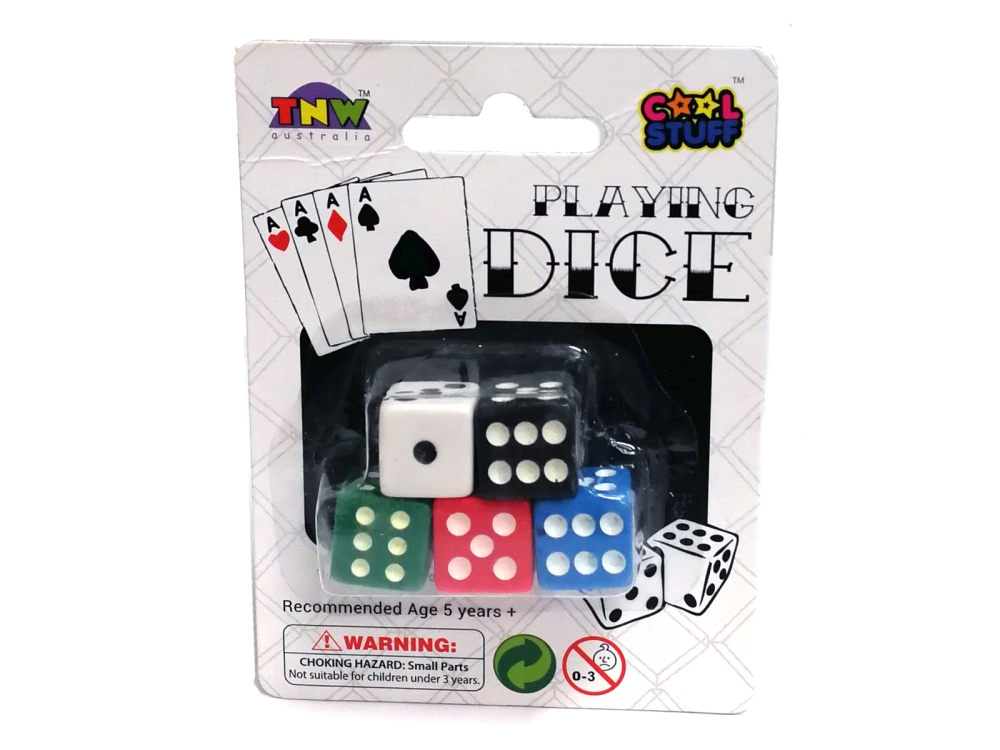 DICE 5pc 14MM COLOURED
