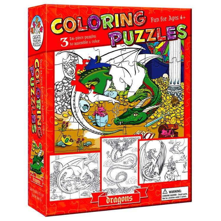 COLOURING PUZZLE DRAGONS