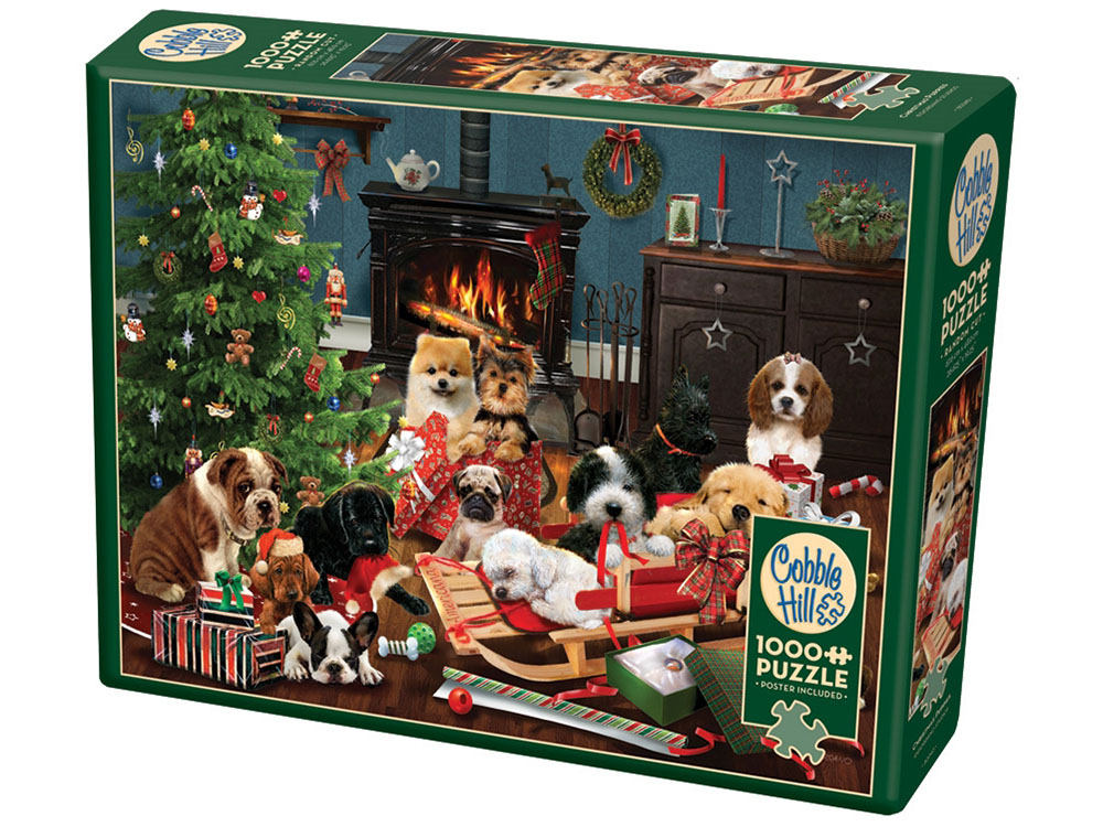 CHRISTMAS PUPPIES 1000pc