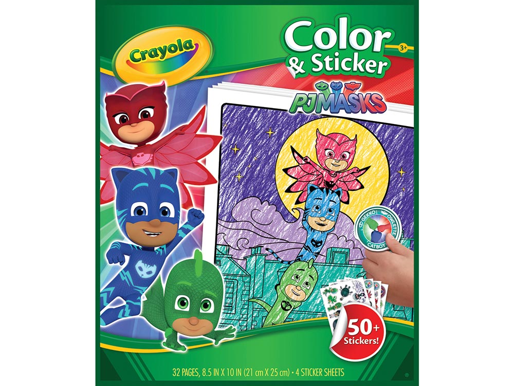PJ MASKS COLOUR & STICKER