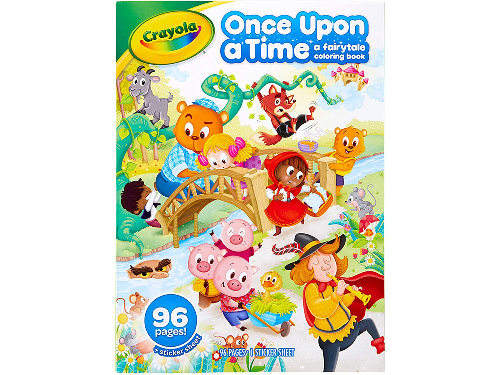 ONCE UPON A TIME COLOURING BK