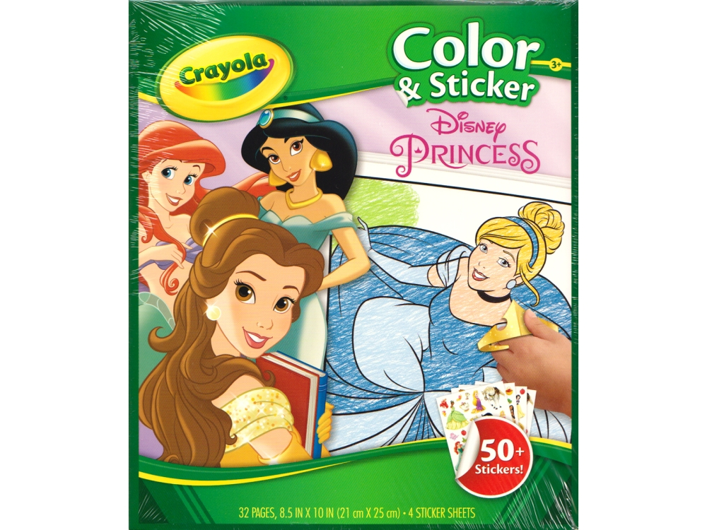 DISNEY PRINCESS COLOR & STICKE