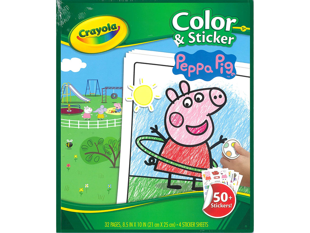 PEPPA PIG COLOUR AND STICKER