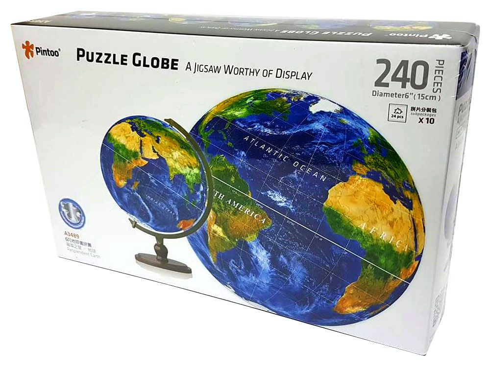 "PUZZLE SPHERE 6"" BLUE EARTH"