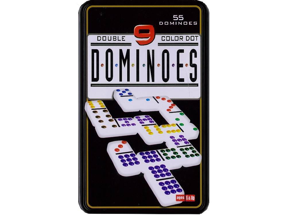 DOMINOES, D-9 IN TIN (55)